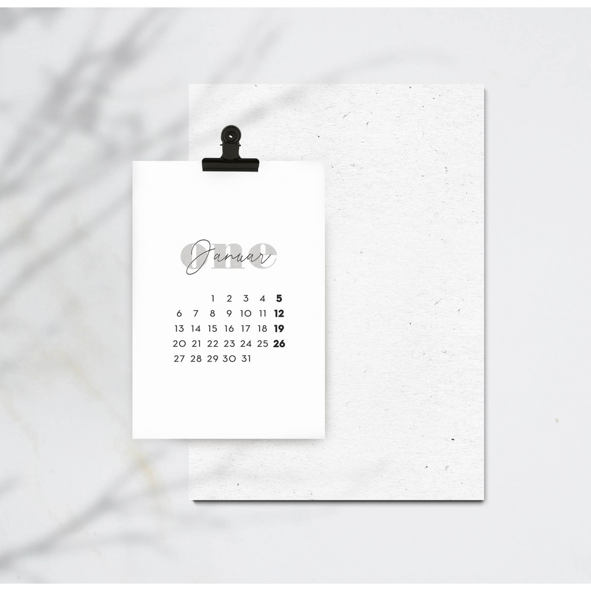 Kruth Design KALENDER 2020 / NUMBERS