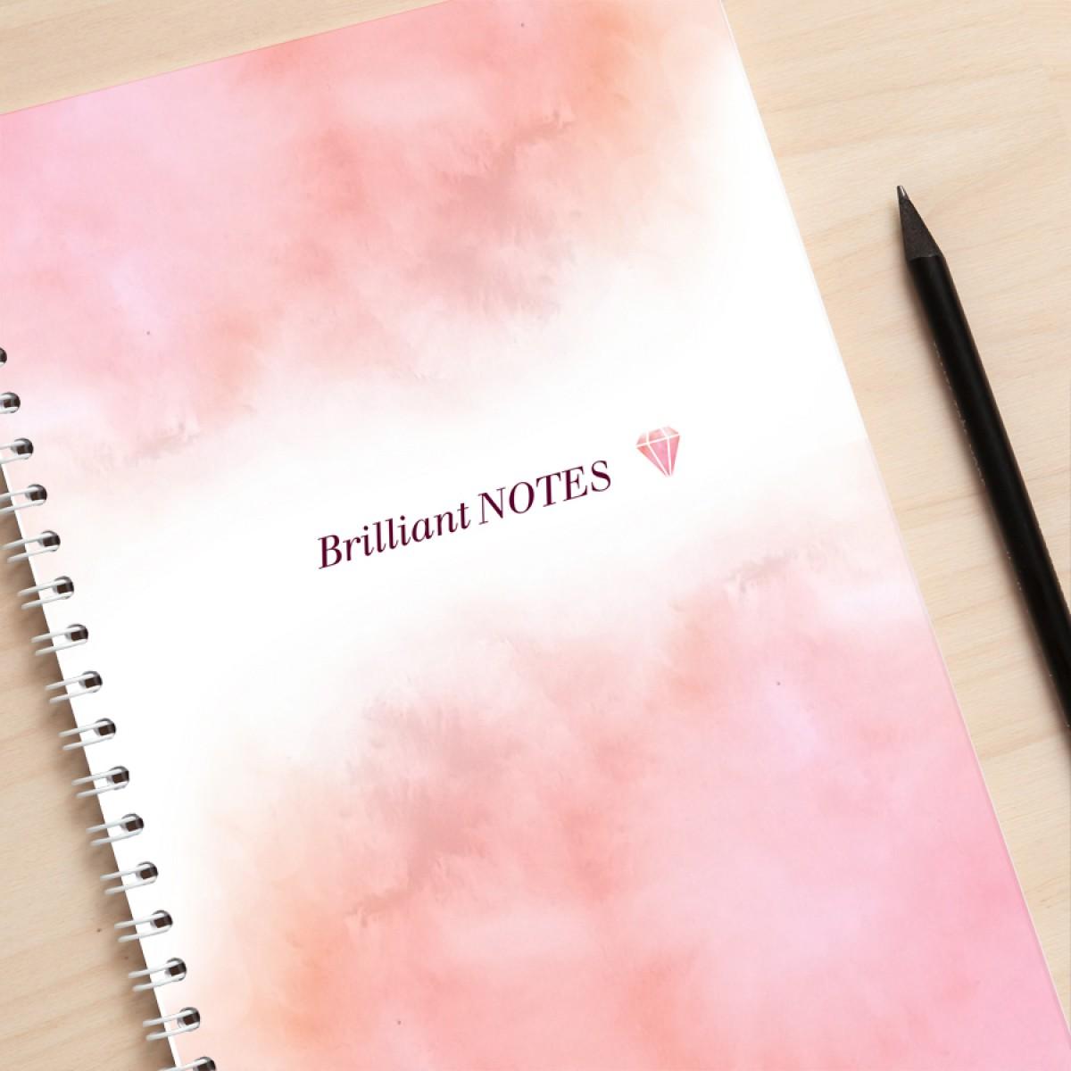 "Amy & Kurt Berlin A5 Notizbuch ""Brilliant Notes"" rosa"