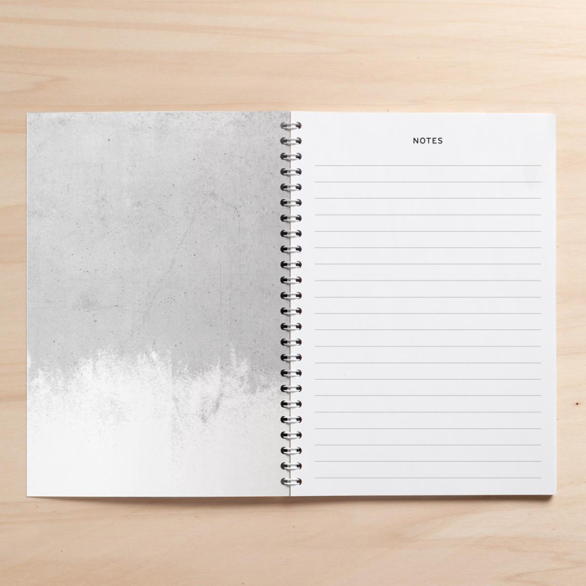 "Amy & Kurt Berlin A5 Notizbuch ""Notes01 Beton"""