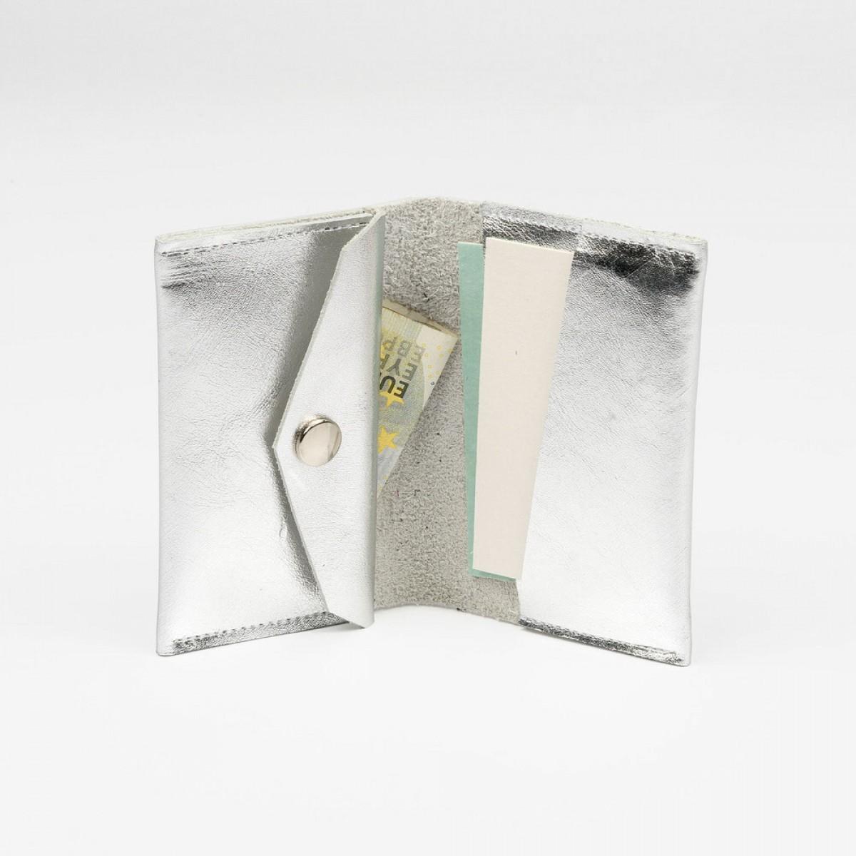 Franziska Klee Portemonnaie OLI MIDI mit Münzfach // Silber