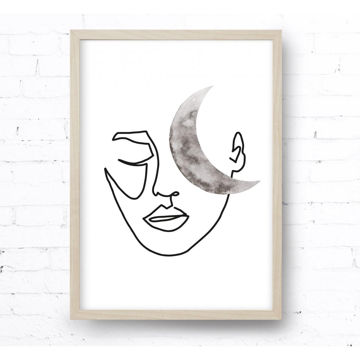 Kruth Design POSTER / MOON FACE