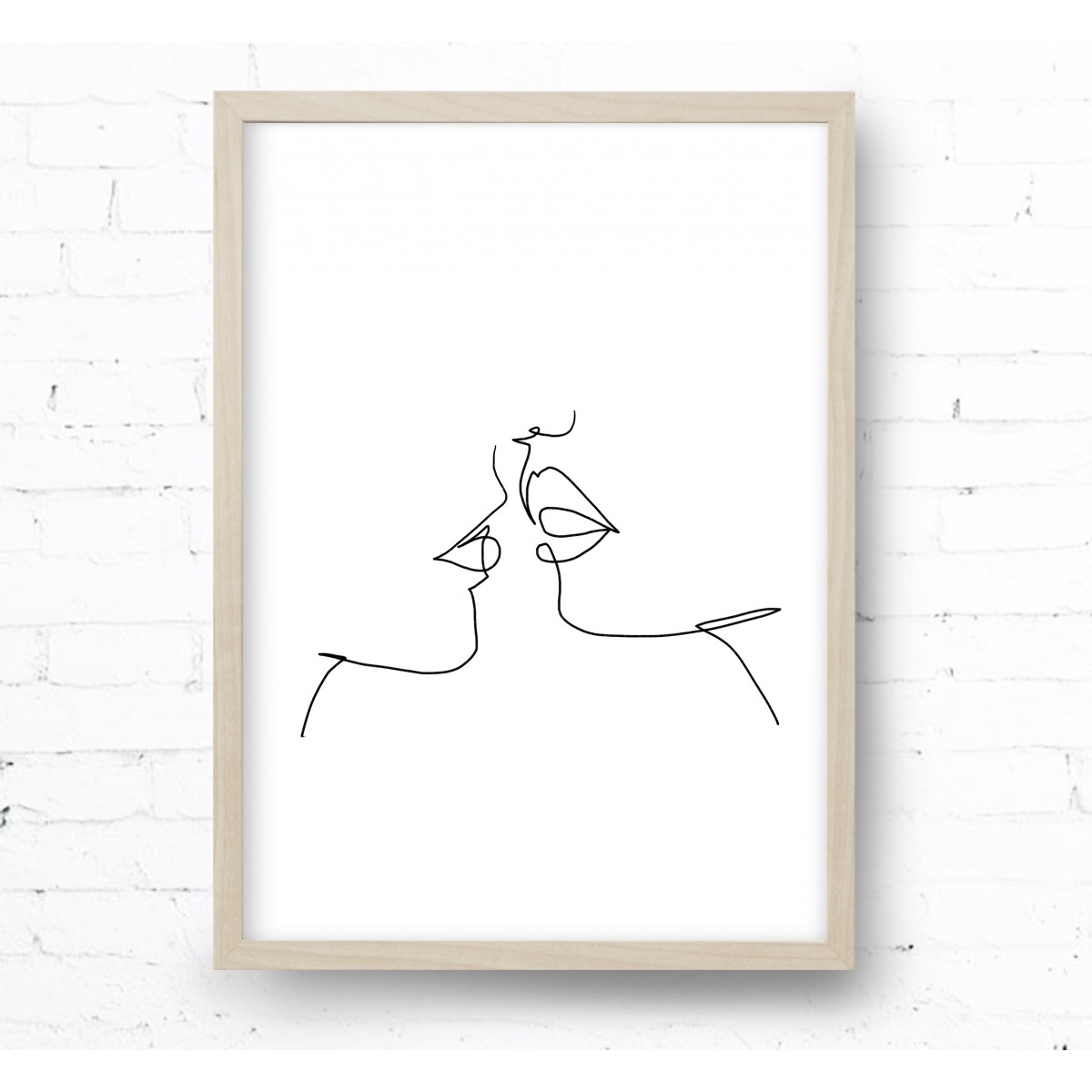 Kruth Design POSTER / ONE LINE KISS
