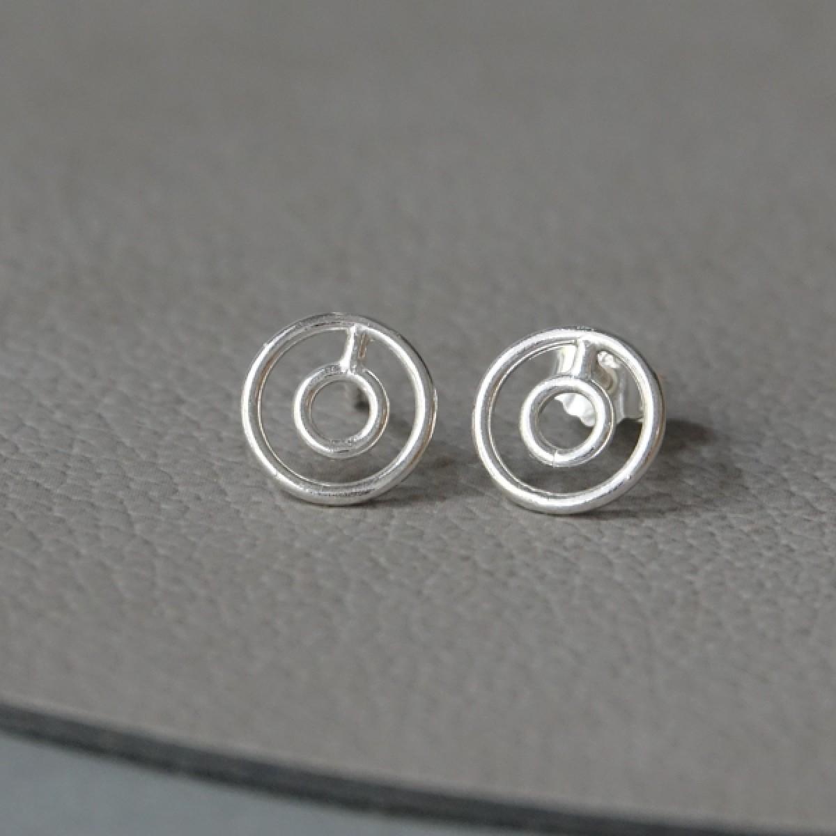 Ohrkreise Nr. 9 - margaritifera - Ohrstecker - Silber 925