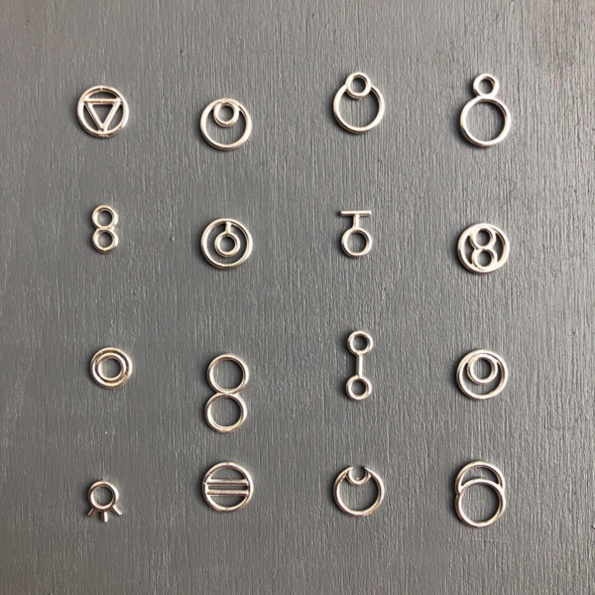 Ohrkreise Nr. 16 - margaritifera - Ohrstecker - Silber 925