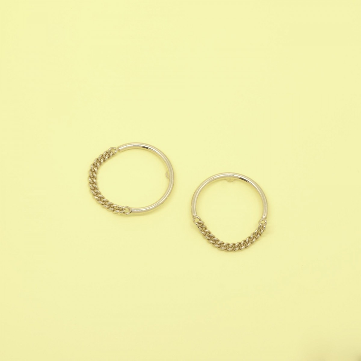 fejn jewelry - Ohrring 'circle chain'