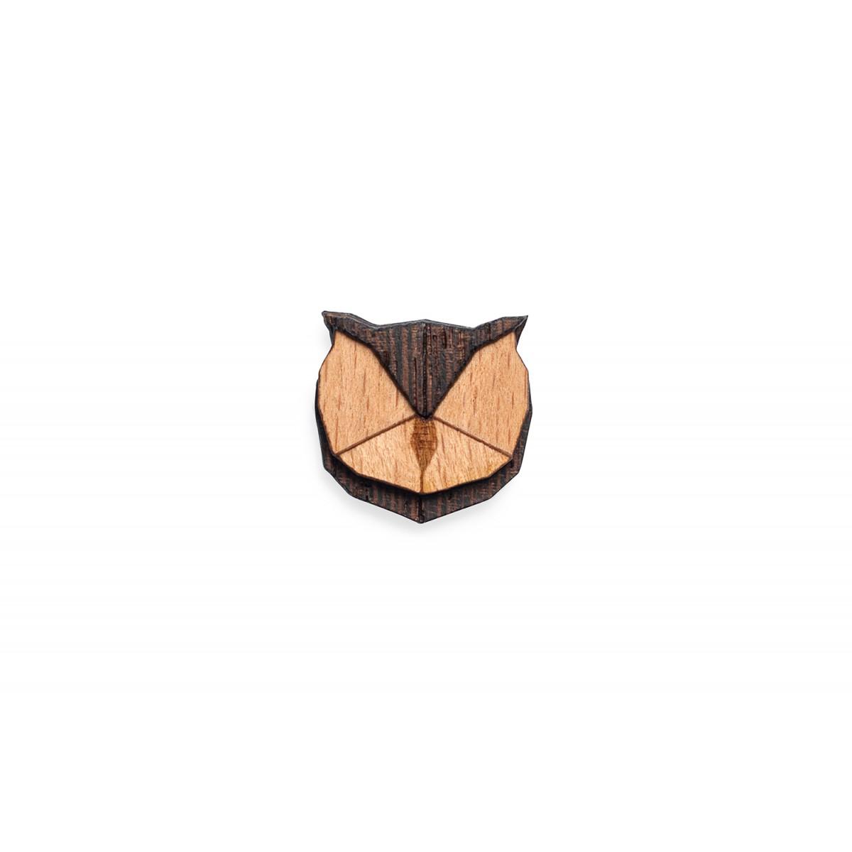 Owl Brooch von BeWooden