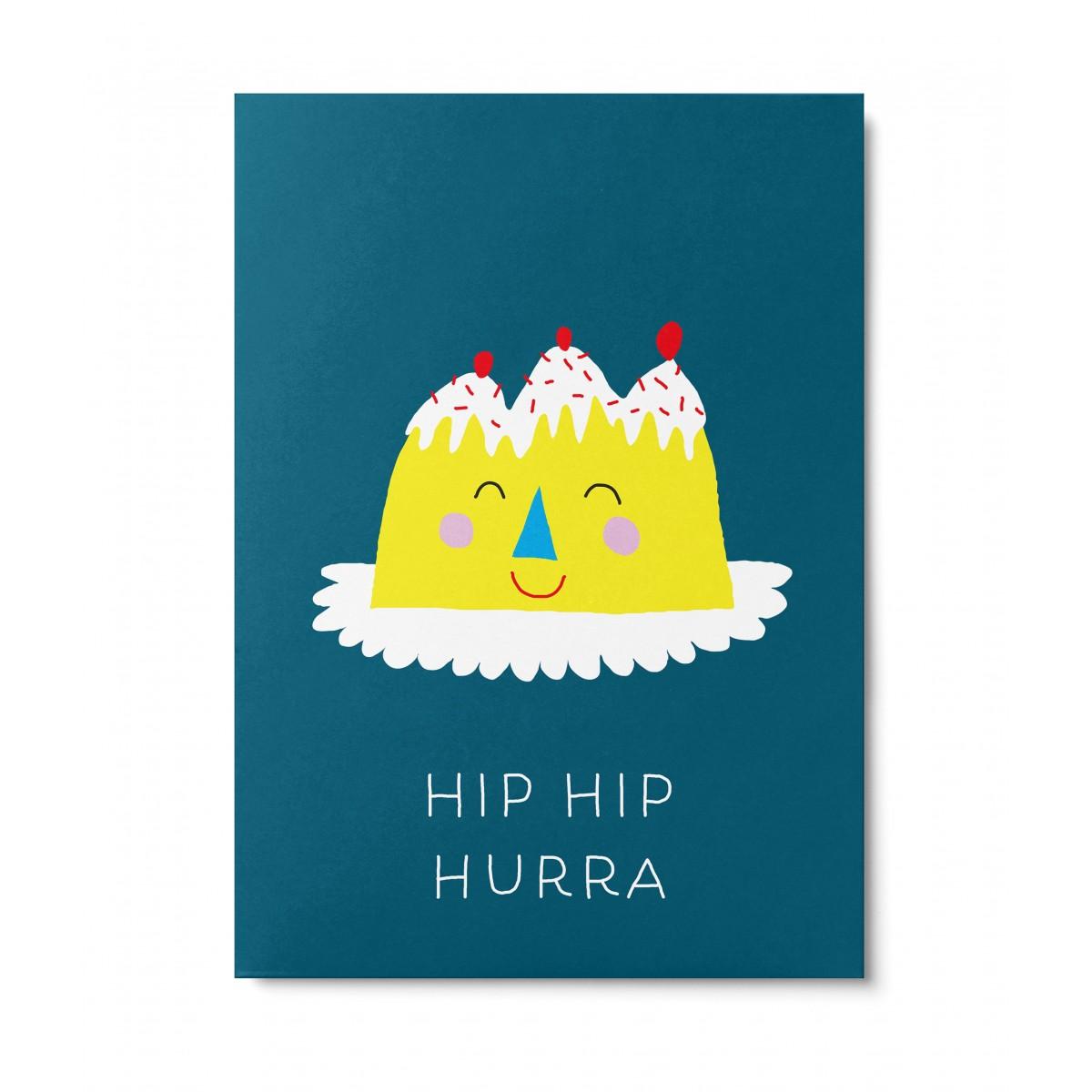 UNTER PINIEN – Geburtstagskuchen – Postkarte