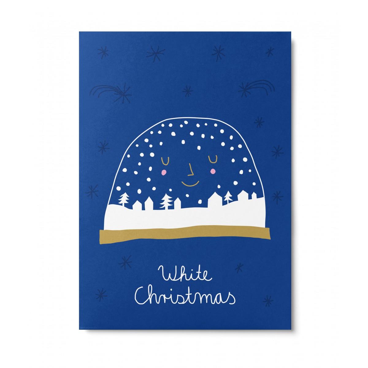 UNTER PINIEN – Schneekugel – Postkarte