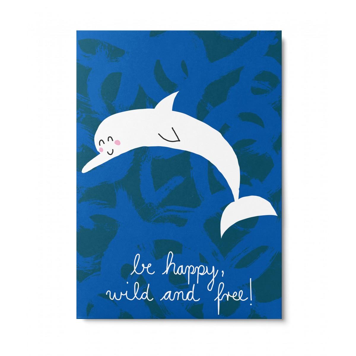 UNTER PINIEN – wild and free – Postkarte