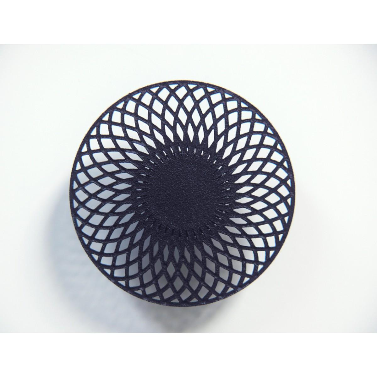 Theobalt.design Hypotrochoid Brosche schwarz
