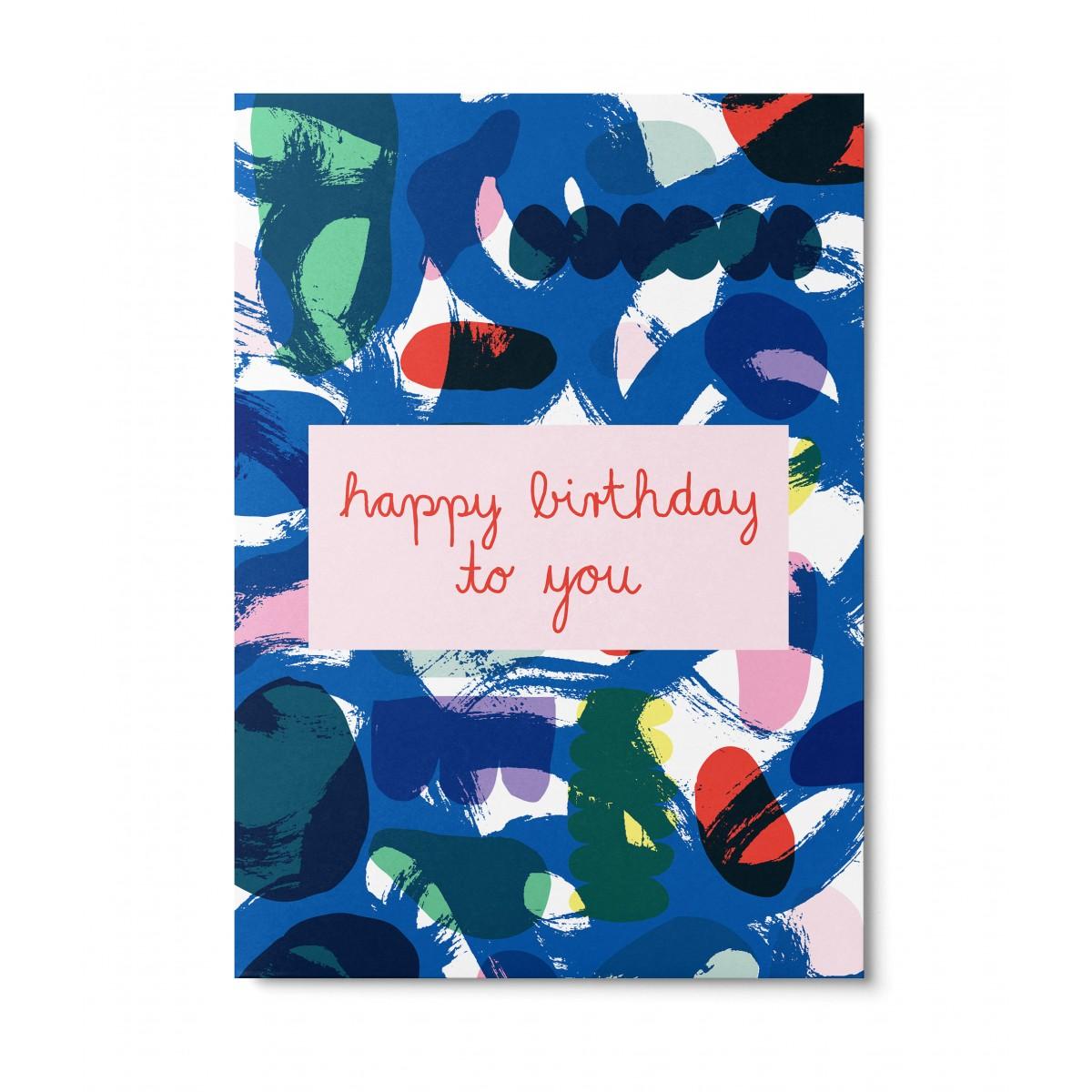 UNTER PINIEN – happy birthday to you – Postkarte
