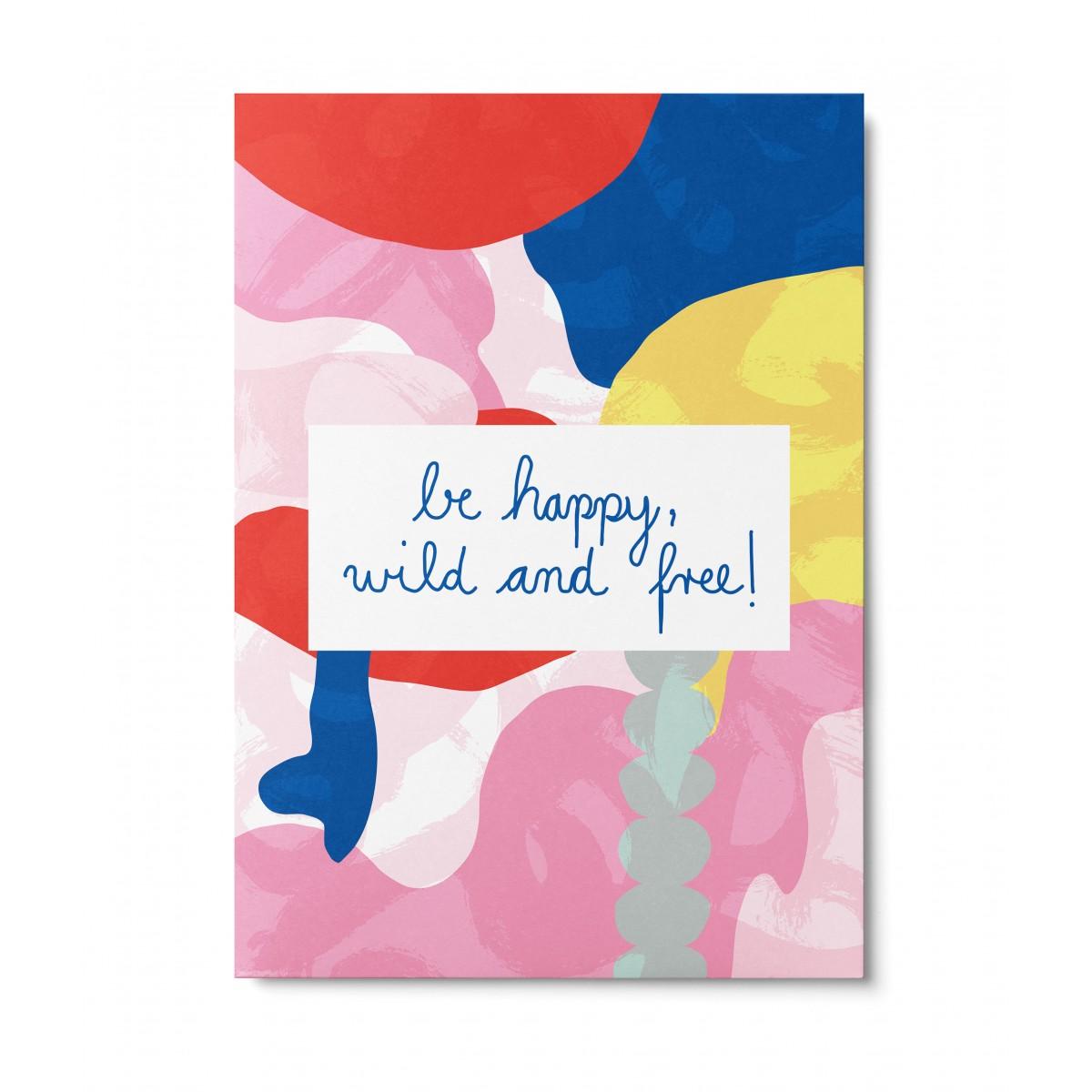 UNTER PINIEN – be happy – Postkarte
