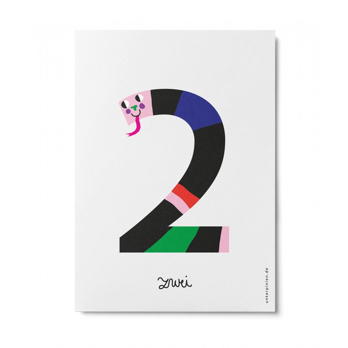 UNTER PINIEN – zwei – Postkarte