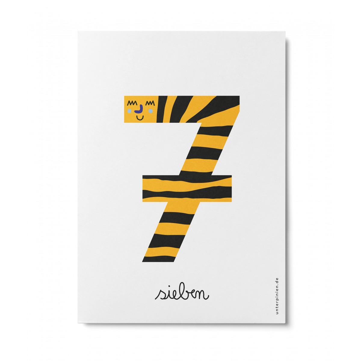 UNTER PINIEN – sieben – Postkarte
