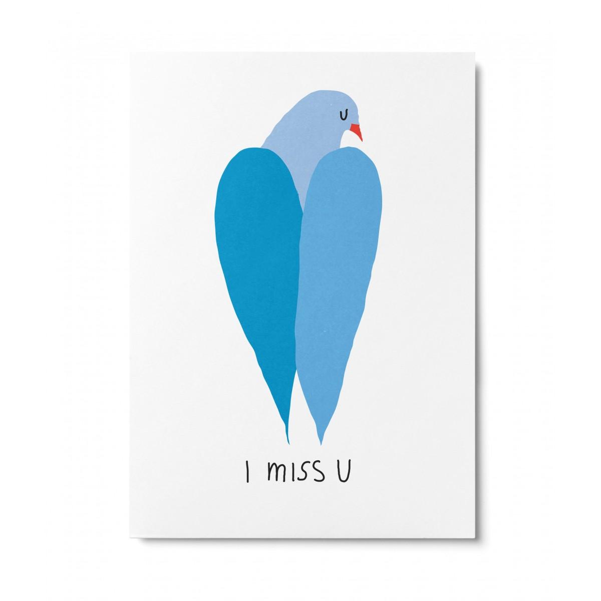 UNTER PINIEN – i miss u – Postkarte