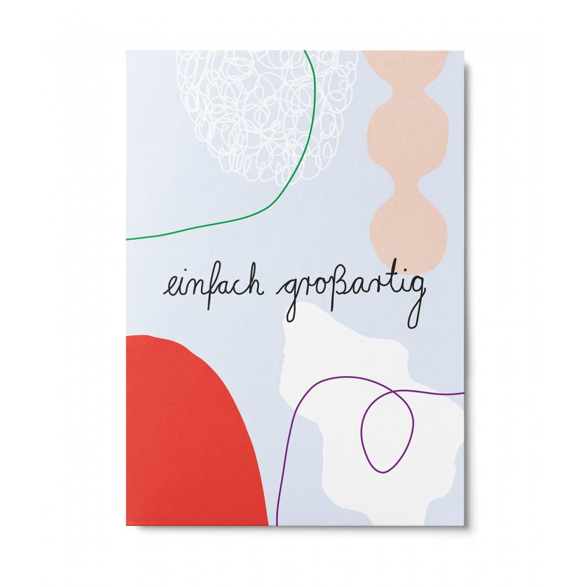 UNTER PINIEN – einfach großartig – Postkarte