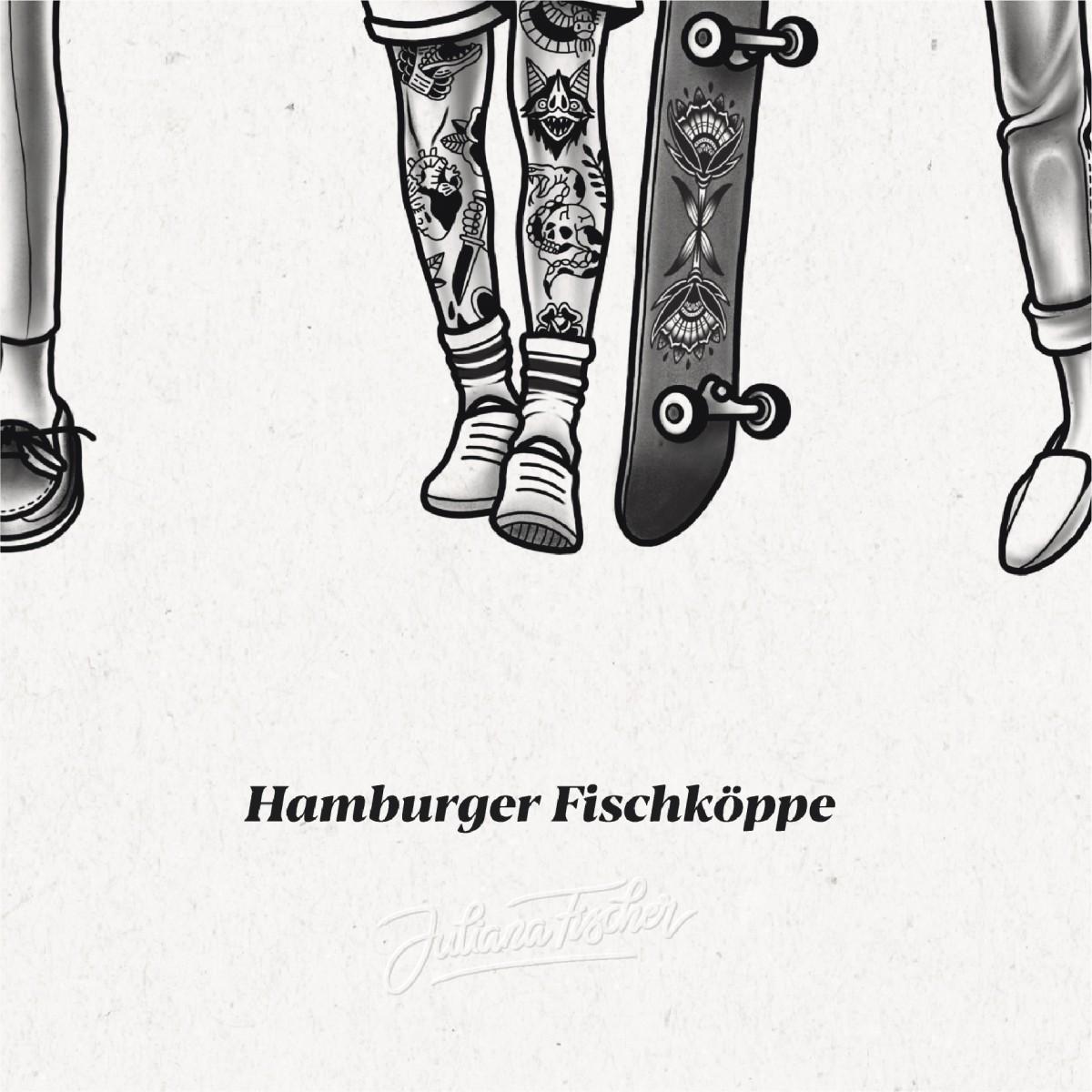 Juliana Fischer - Hamburger Fischköppe - DIE CREW - 50x70cm