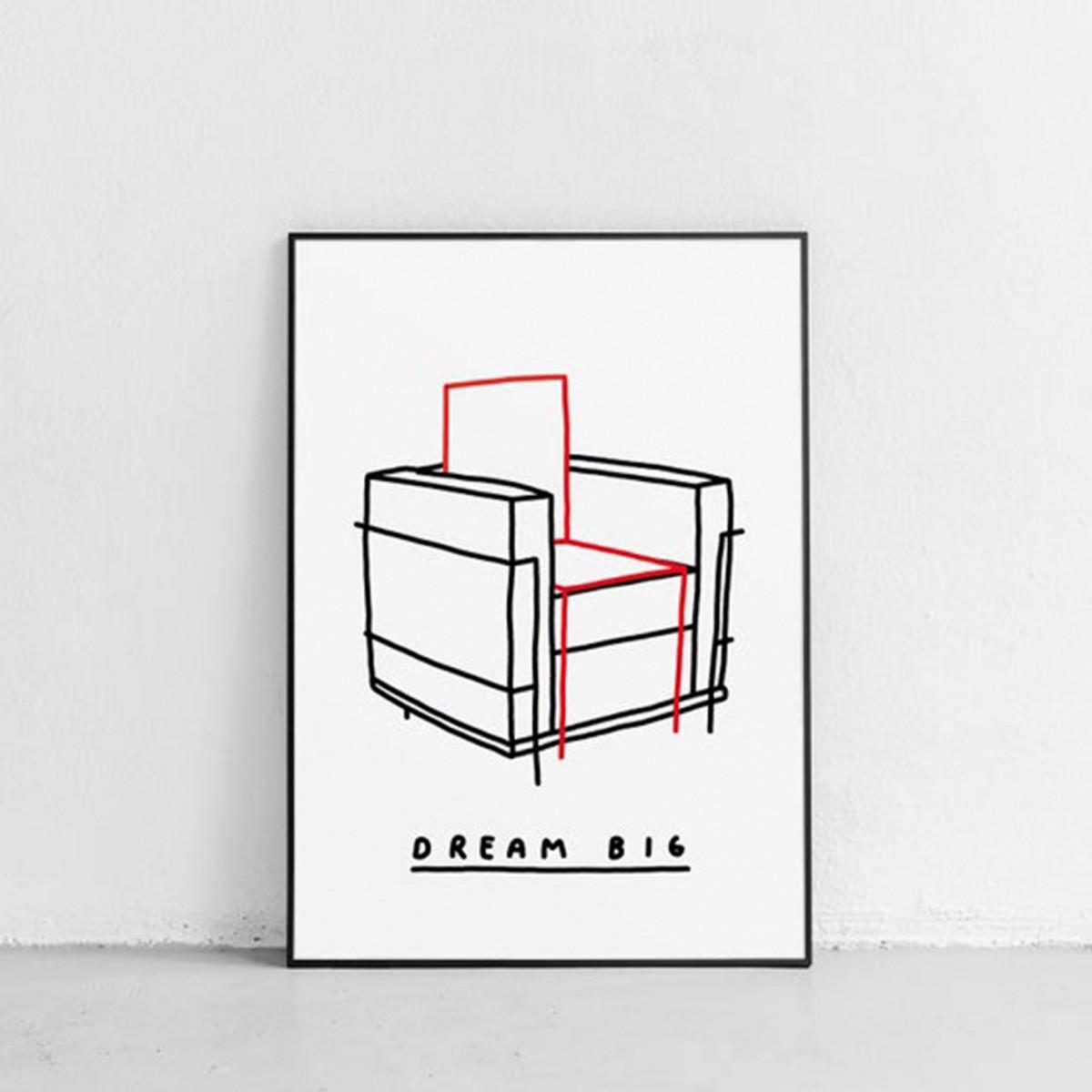 DREAM BIG Poster 50x70cm – Johanna Schwarzer