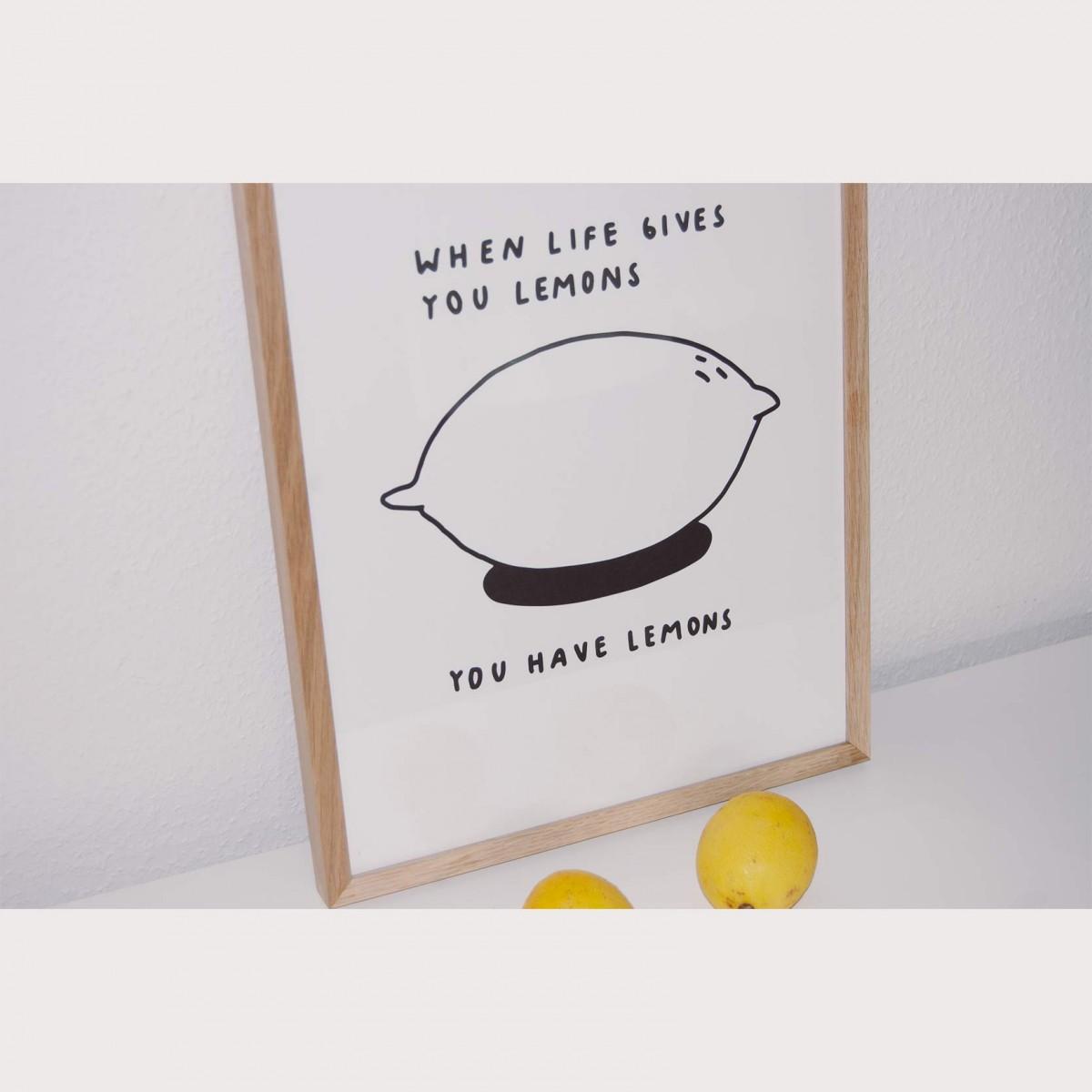 LEMONS Print 30x40cm – Johanna Schwarzer