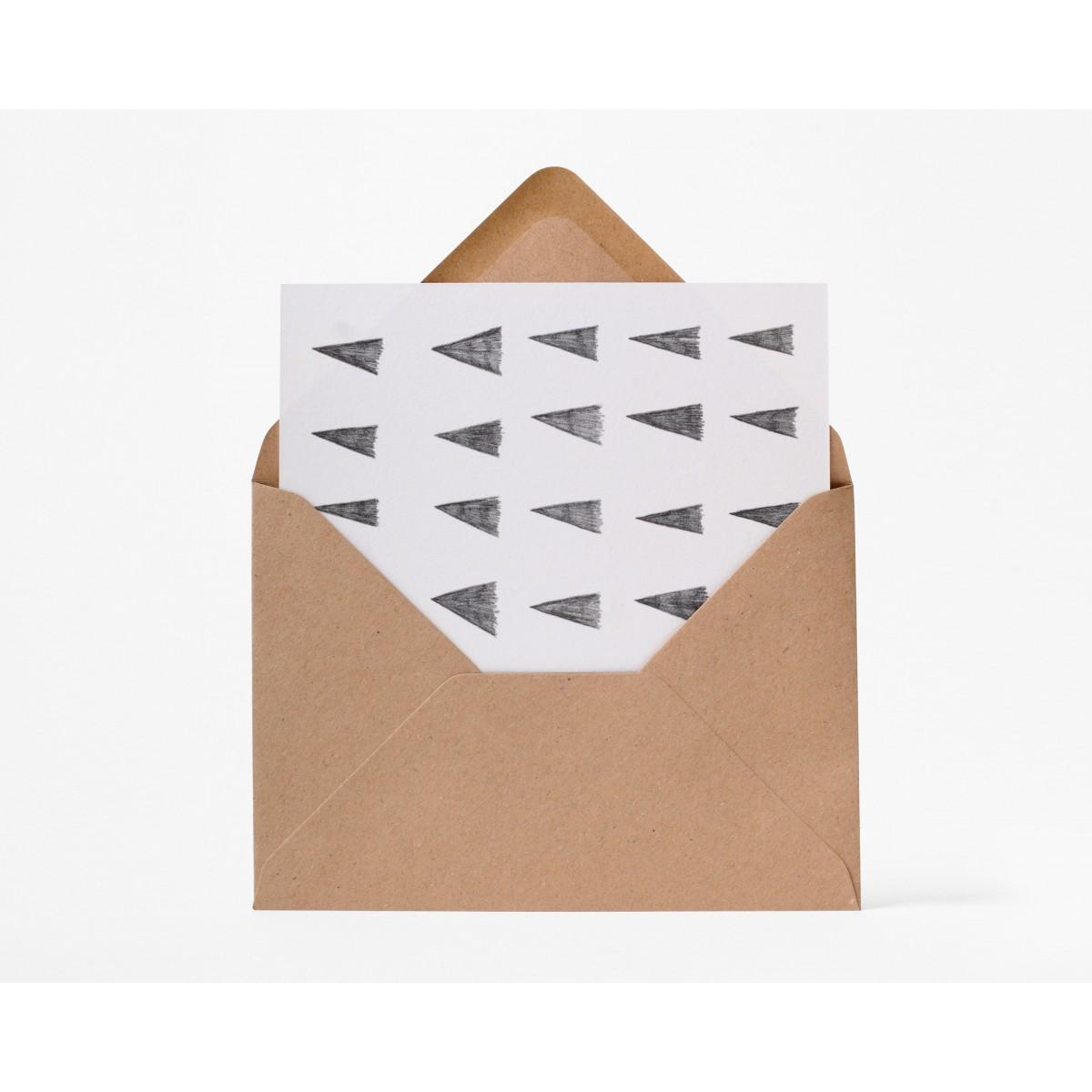 stefanizen – Dreieck Postkarte DIN A6 mit Umschlag