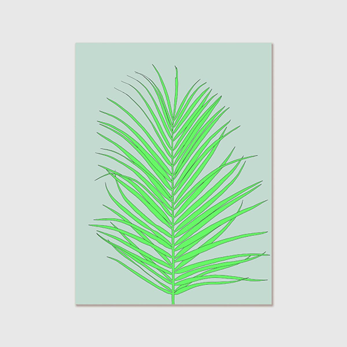 """ZEITLOOPS """"Palmblatt"""", Poster ca. A4 / A3"""