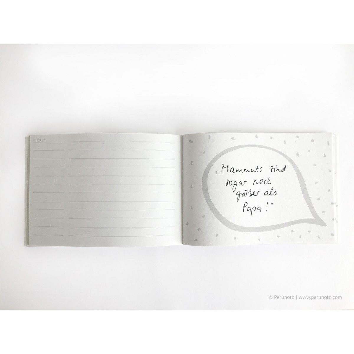 Perunoto AUS DEINEM KINDERMUND Notizheft, Erinnerungsbüchlein, Sprüchesammlung
