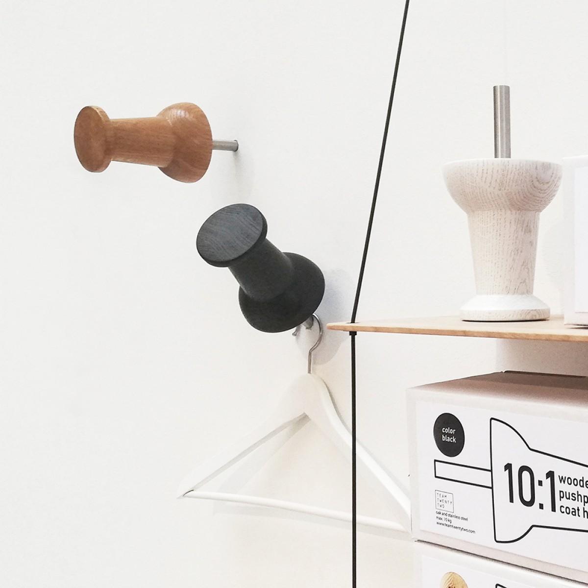 XXL wooden push pin // Garderobe // Wandhaken // Eiche klar