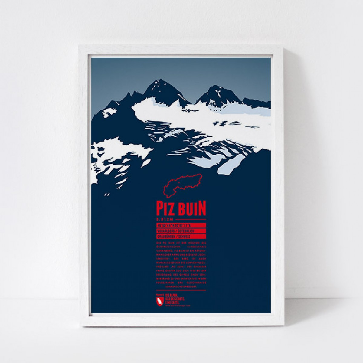Marmota Maps – Piz Buin - Bergdruck