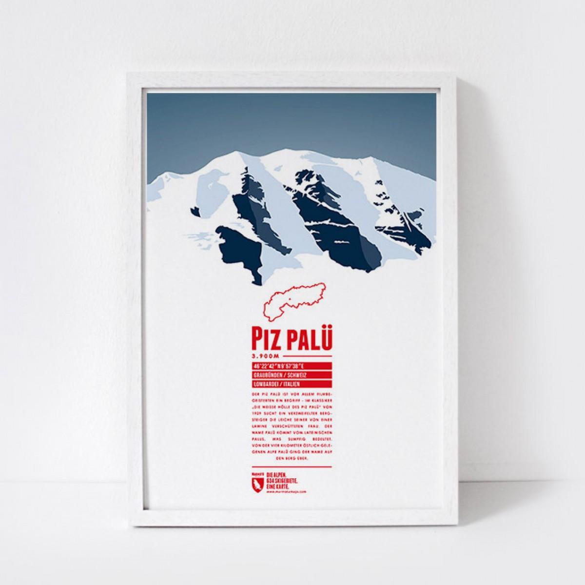 Marmota Maps – Piz Palü - Bergdruck