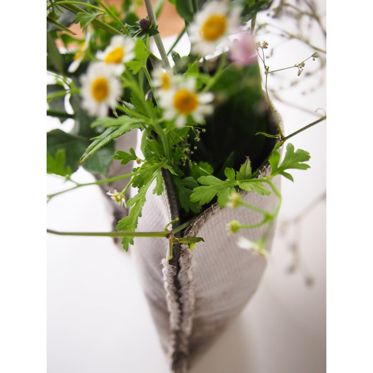 moij design Plünnen - große Vase aus Textilbeton