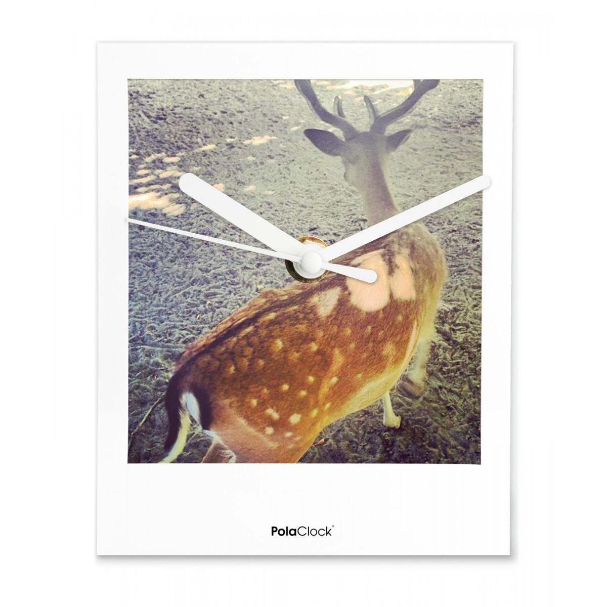 "PolaClock ""WHO KILLED BAMBI"" Wanduhr / Tischuhr im Polaroid-Look by Marcell Kochert"