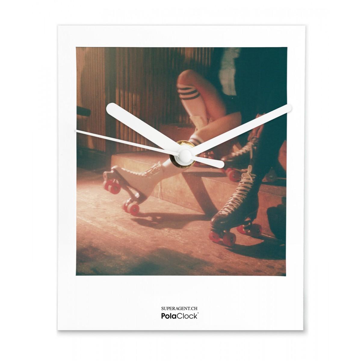 """PolaClock """"BOOGIE NIGHTS"""" Wanduhr / Tischuhr im Polaroid-Look by Miriam Marlene Waldner"""