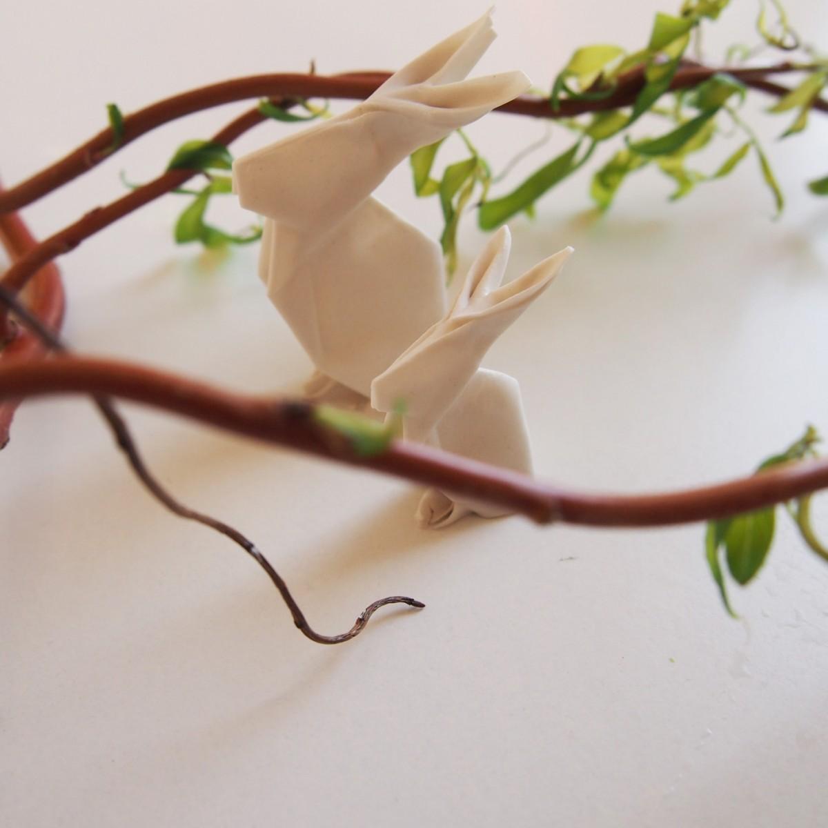 moij design Origamihase aus Porzellan