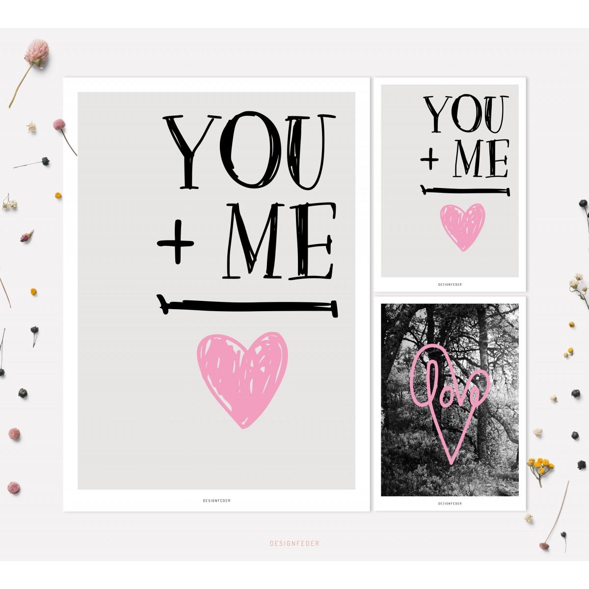designfeder   Poster & Postkarten Love