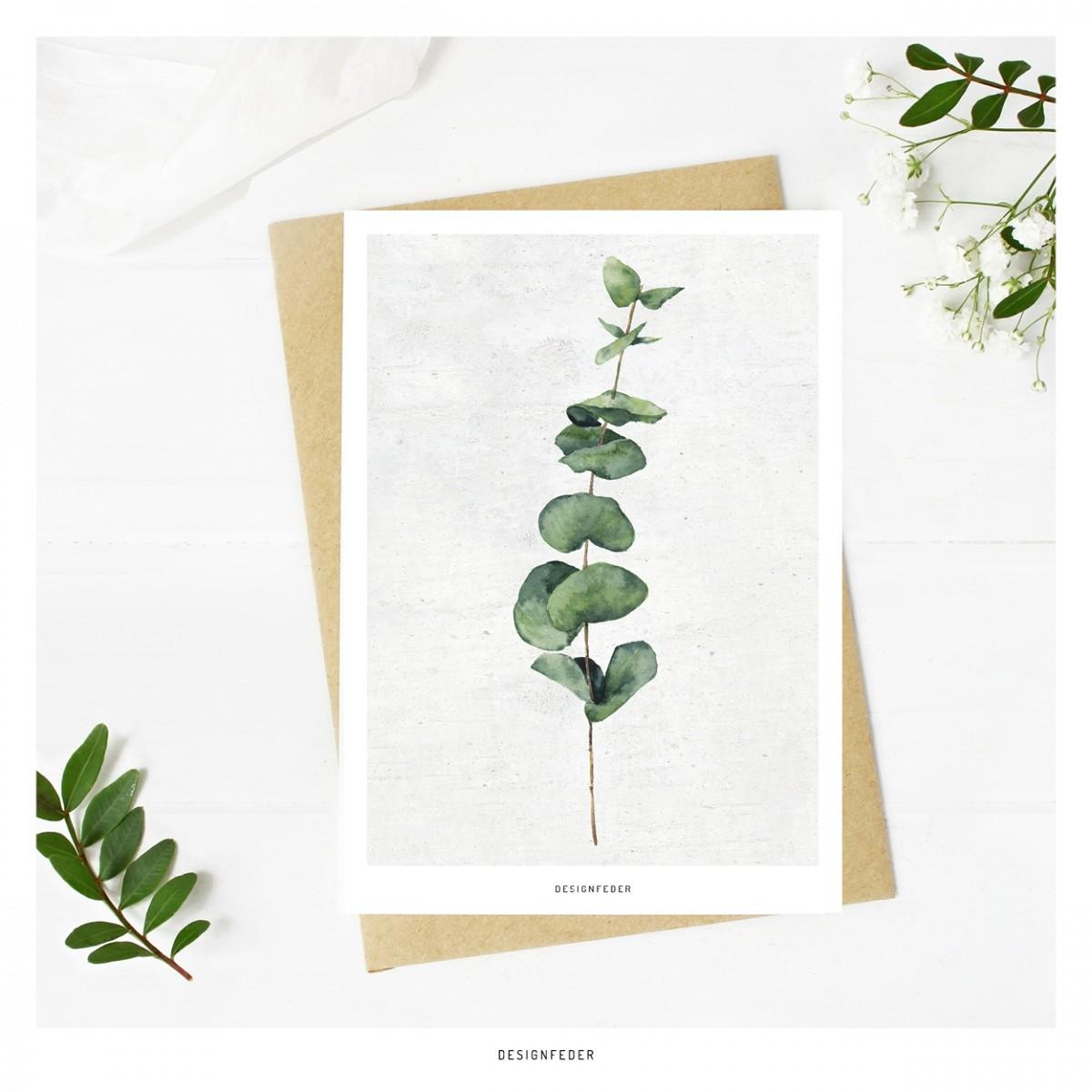 designfeder | Postkarte Pflanze Urban Jungle
