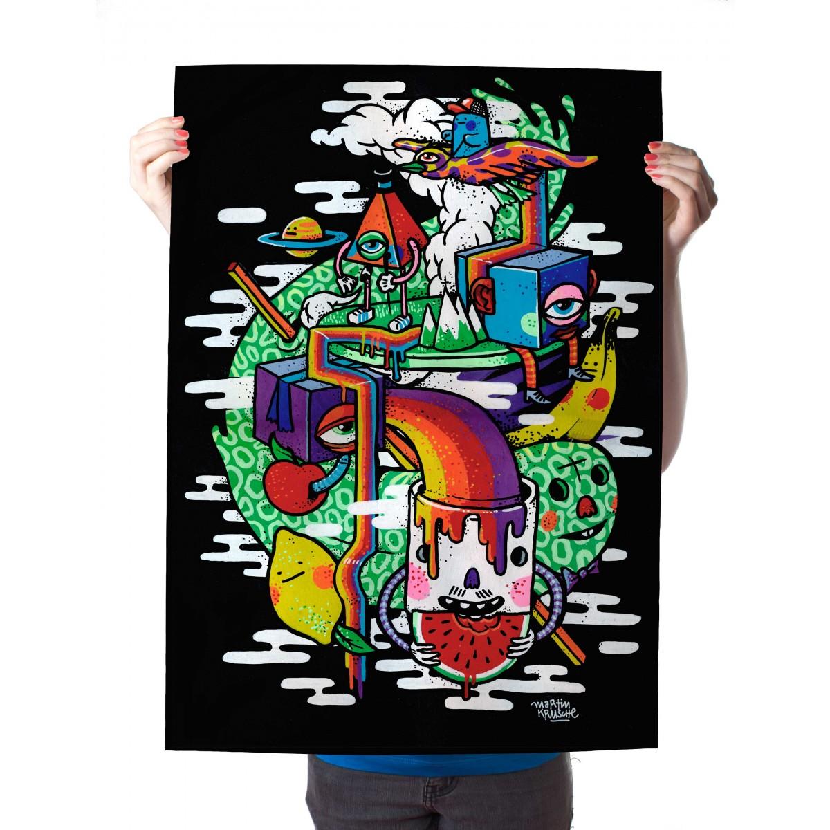 Martin Krusche – Poster »Colorful Life« 50x70cm