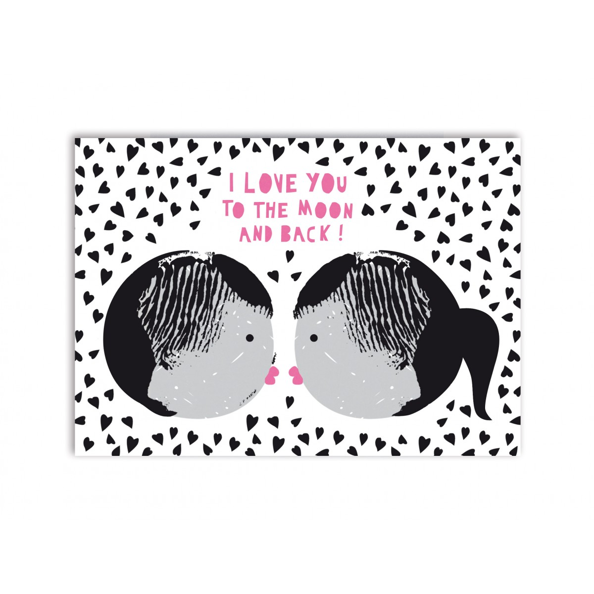 """Perunoto Postkarte """"Kiss"""""""