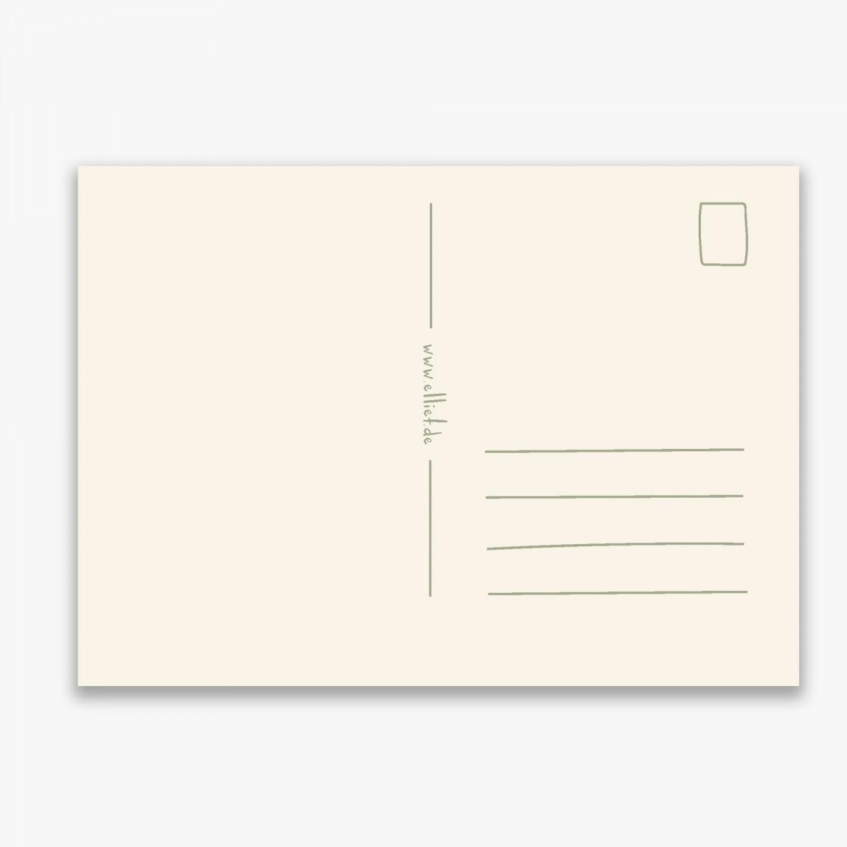 Karte A6 - Postkarte Kirschen - Elliet