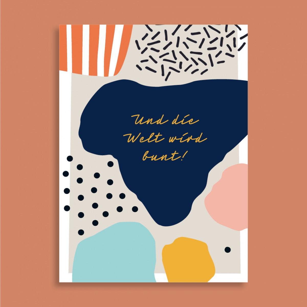 Family Tree Shop / Postkarte / Bunte Welt