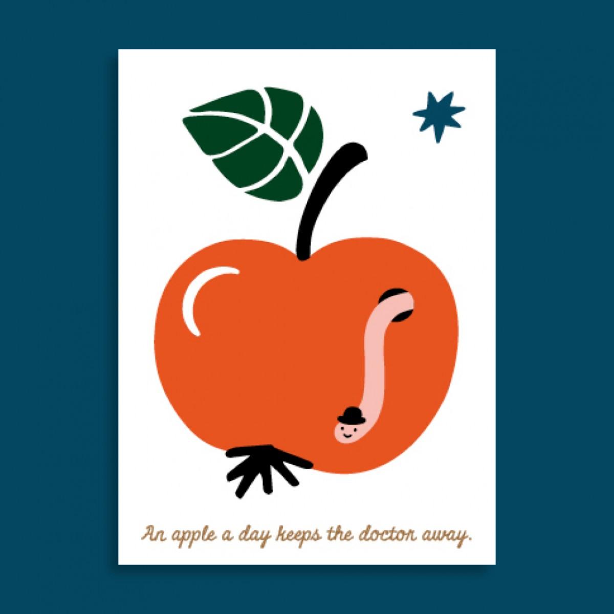 Family Tree Shop / Postkarte / Gesunder Wurm