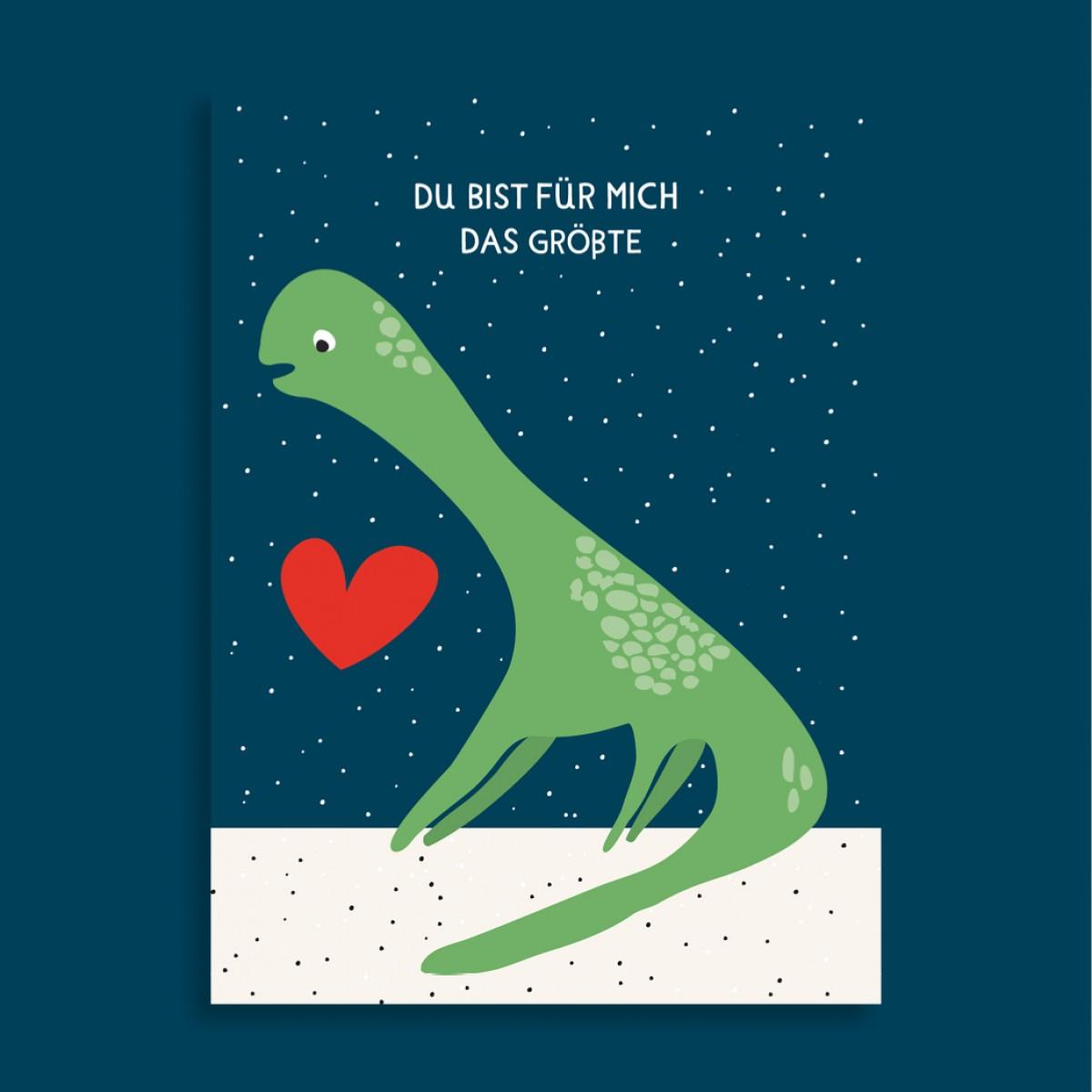 Family Tree Shop / Postkarte / Dinosaurier