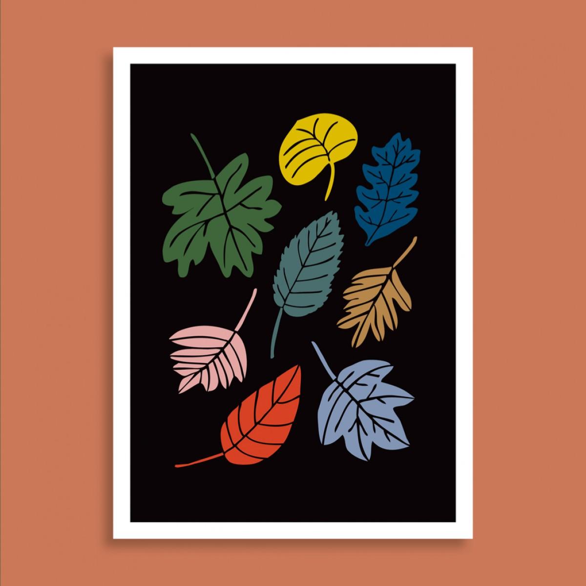 Family Tree Shop / Postkarte / Bunte Blätter