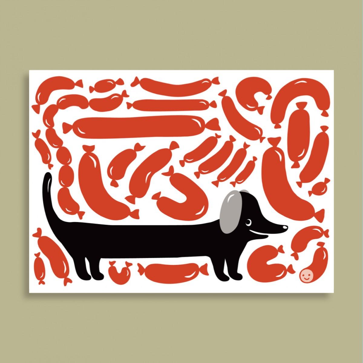 Family Tree Shop / Postkarte / Wursthund