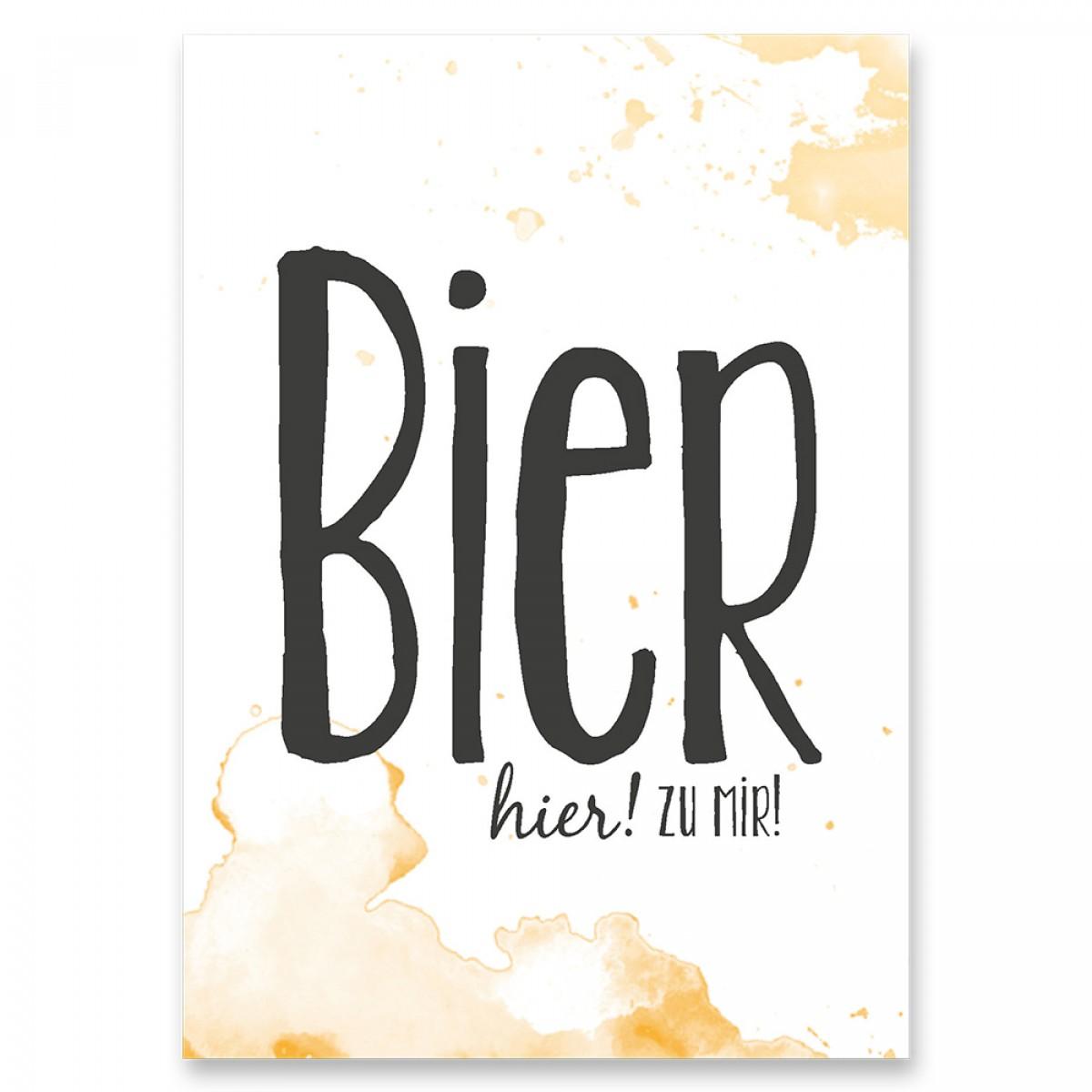 "Frau Schnobel Grafik Postkarte ""Bier"" 4er-Set"