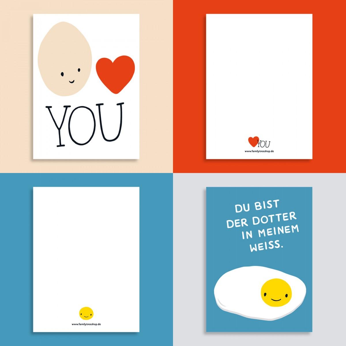 Family Tree Shop / 2er Postkarten-Set / Eier