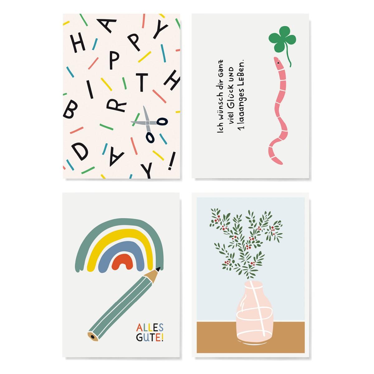 Family Tree Shop / Postkarten-Set / Geburtstag 2