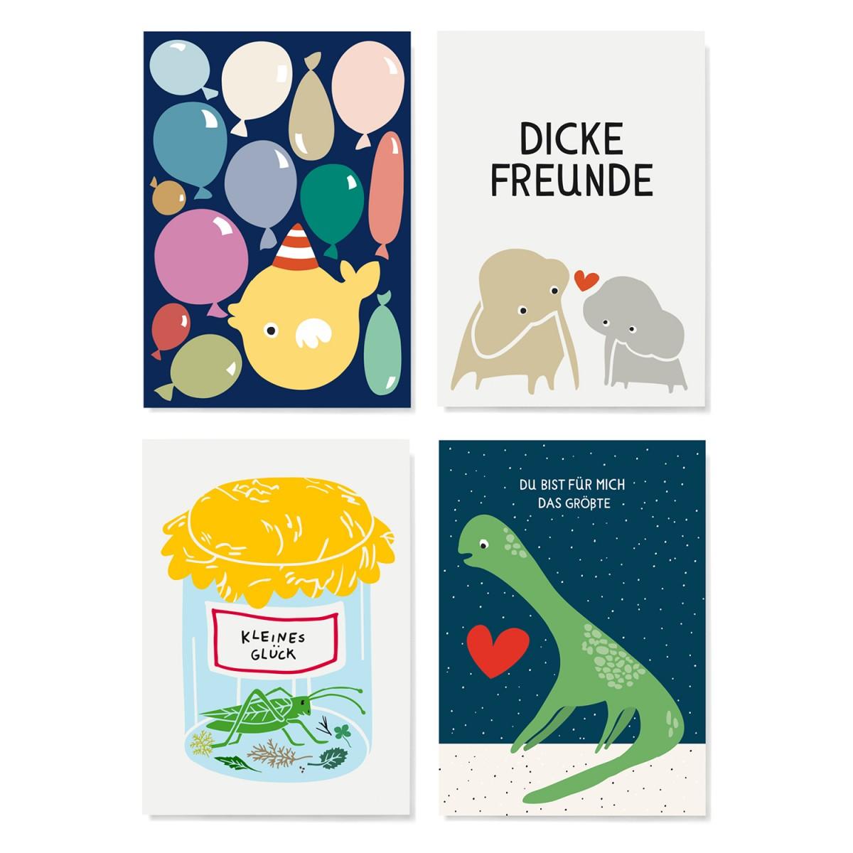 Family Tree Shop / Postkarten-Set / Kids