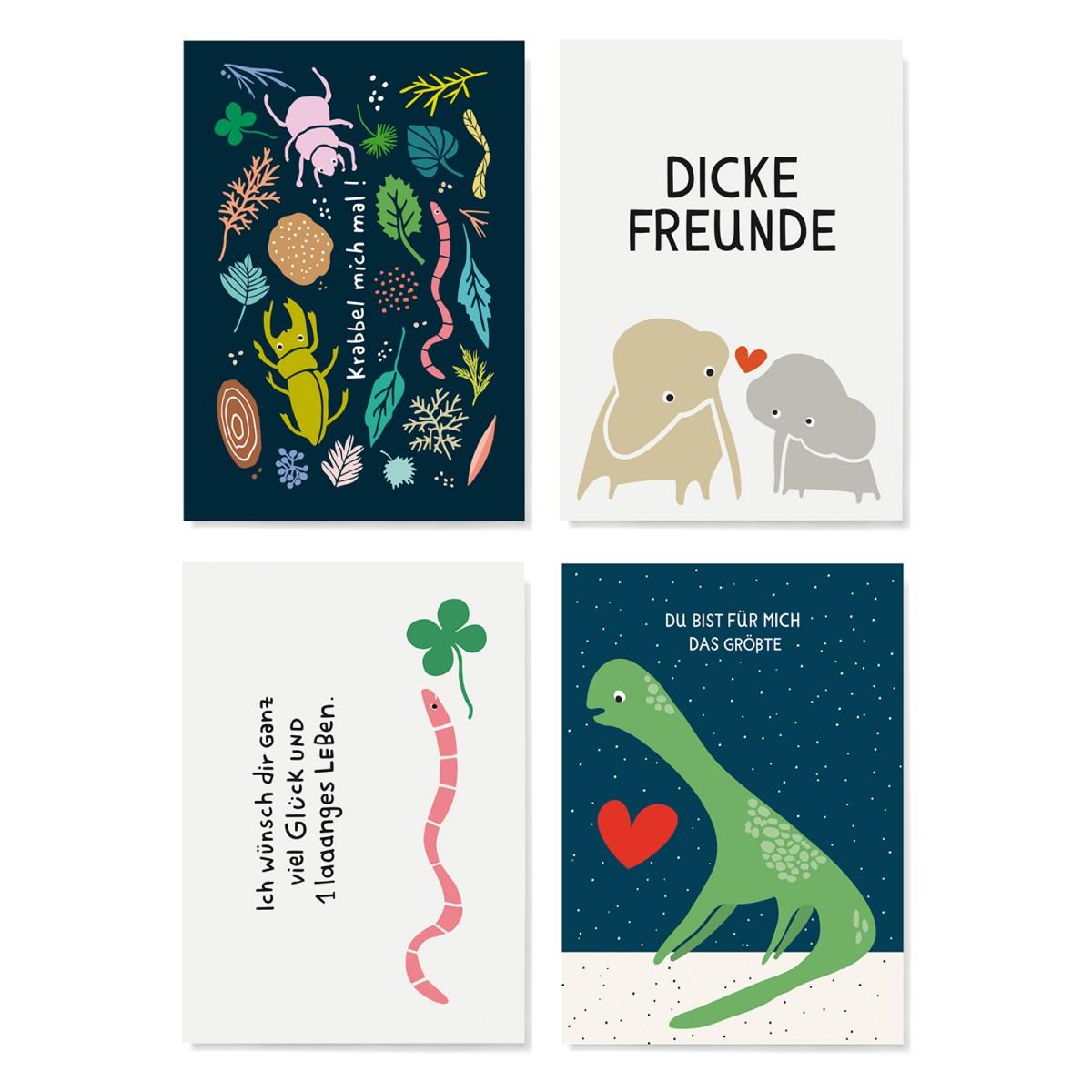Family Tree Shop / Postkarten-Set / Tiere