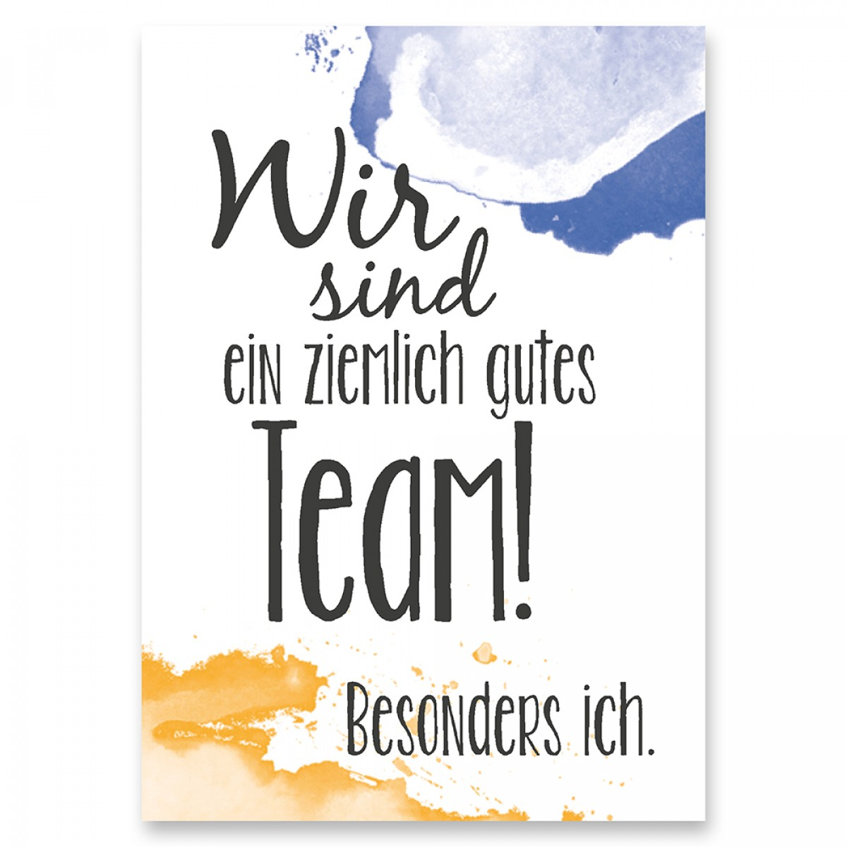 "Frau Schnobel Grafik Postkarte ""gutes Team"" 4er-Set"