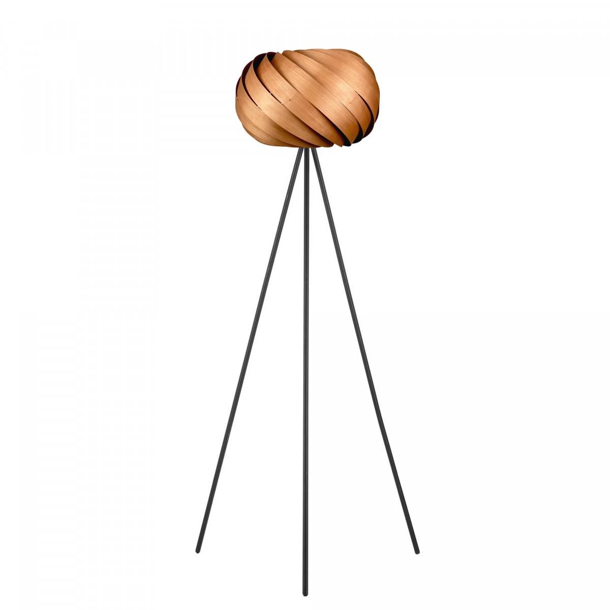 Tripod-Stehleuchte - Kollektion 'Quiescenta' aus Kirschbaum